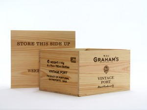 6 bottles Wooden wine boxes